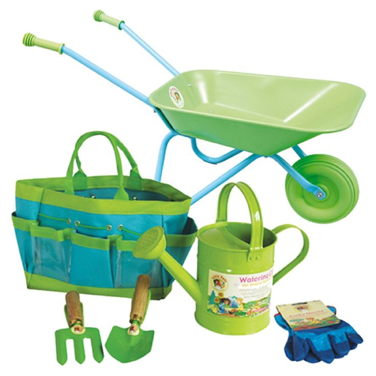Children's Gardening tools, Watering Can & Wheelbarrow Set
