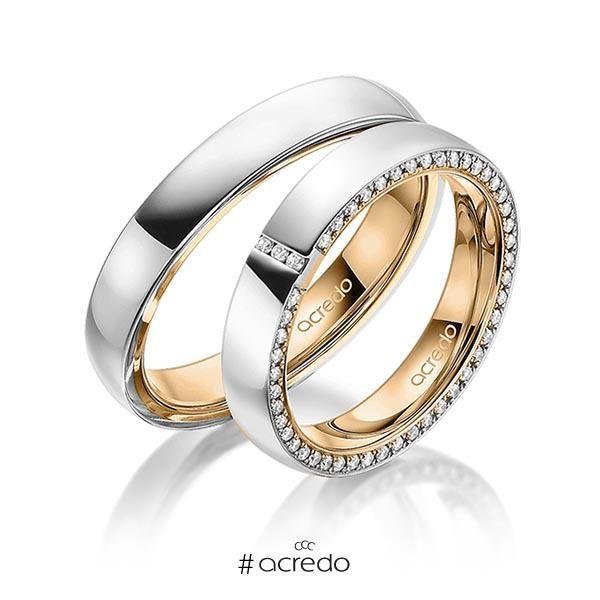Alianzas De Boda En Oro Oro Blanco O Platino Con Diamantes Anillos De Pareja