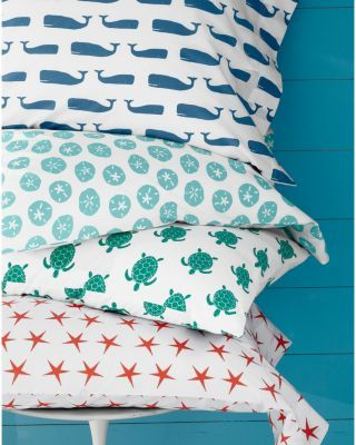 Garnet Hill Mini-Print Percale Bedding