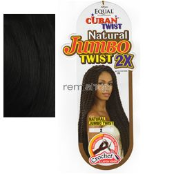 Fri Jan 22, 2016 - #9: Equal (SNG) Cuban Twist Natural Jumbo Twist 2X  - Color 2 - Synthetic Braiding