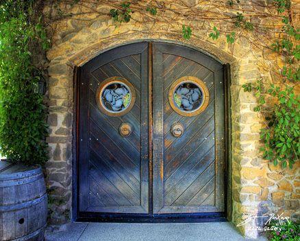 Elegant door at Ravenswood Winery