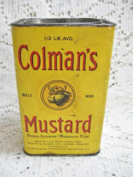 Early 1/2 Pound Colman's Mustard Advertising Tin