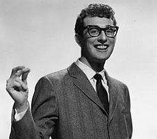 "Buddy Holly - Born in Lubbock, Texas. American singer-songwriter and a pioneer of rock and roll. Although his success lasted only a year and a half before his death in an airplane crash, Holly is described by critic Bruce Eder as ""the single most influential creative force in early rock and roll."""