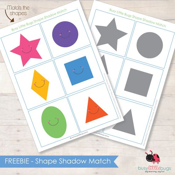 Free Shape Shadow Match...Loving this site.  Great free printables for kids/toddlers!