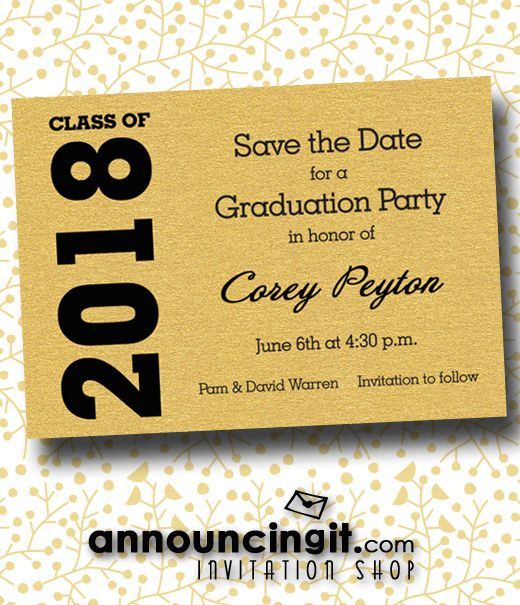 2018 graduation save the date cards pinterest