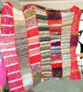 Knitted blankets for Orphans Feather wool 2