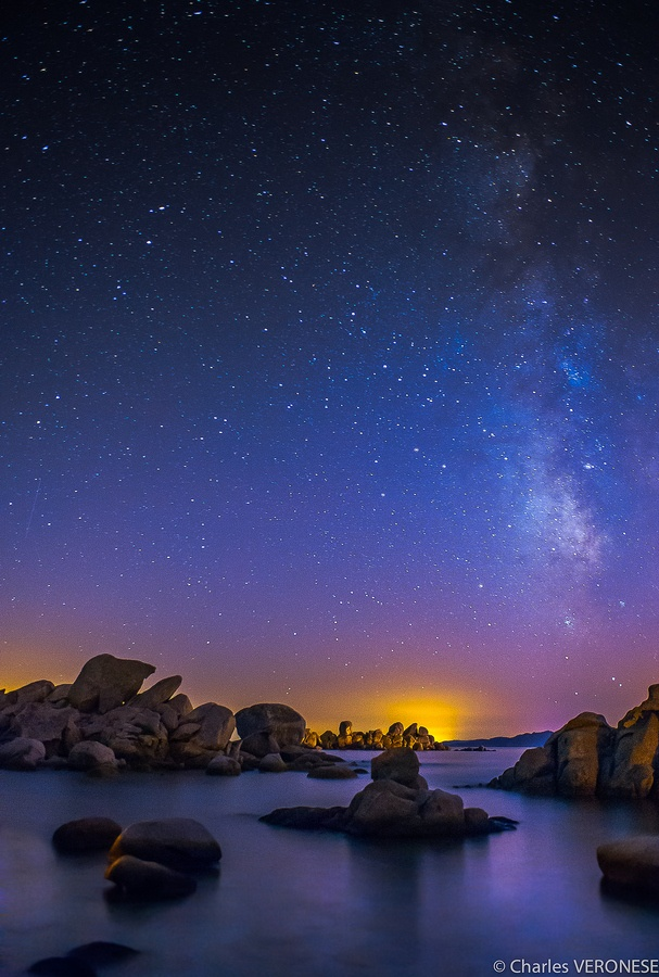 Milky Way by Charles Veronese, via 500px; Plage de Palombaggia, Corsica