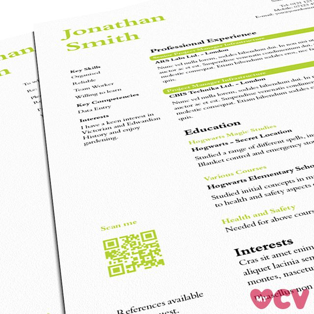 open source resume template