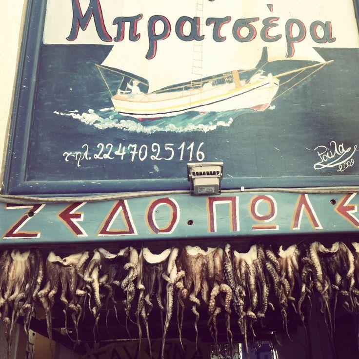 Octopii all in a row - Leros taverna
