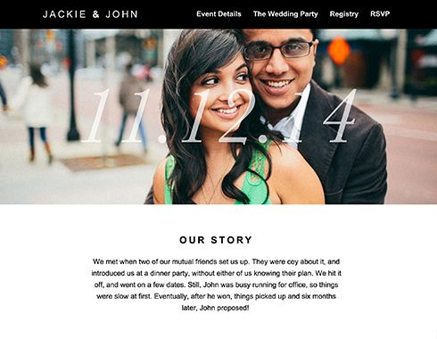 Wedding Websites For The Modern Bride Online Rsvp With A Super Cly Site Sitting