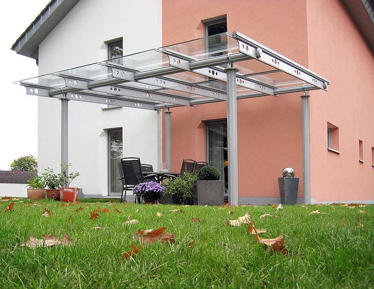 Terrassenüberdachungen Alu Glas / Überdachung Glas als Terrassenüberdachungen für Minden, Lemgo, Detmold und Bielefeld - Überdachungen aus Glas von D+F