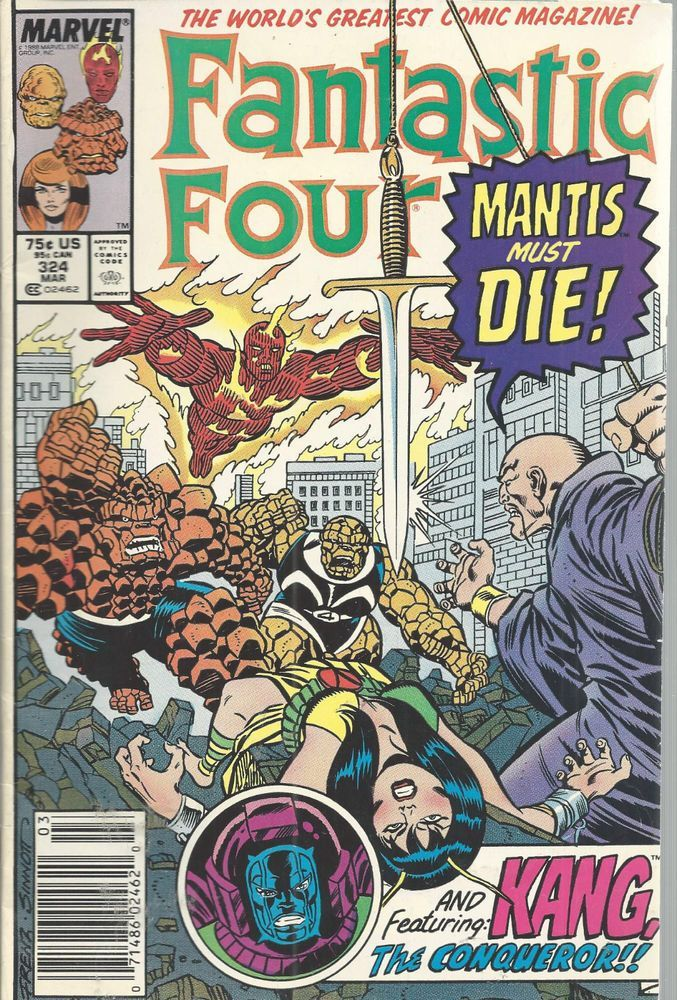 Fantastic Four Marvel Comics Vol 1 No 324 Mar 1989 Mantis Must Die Kang Conquero