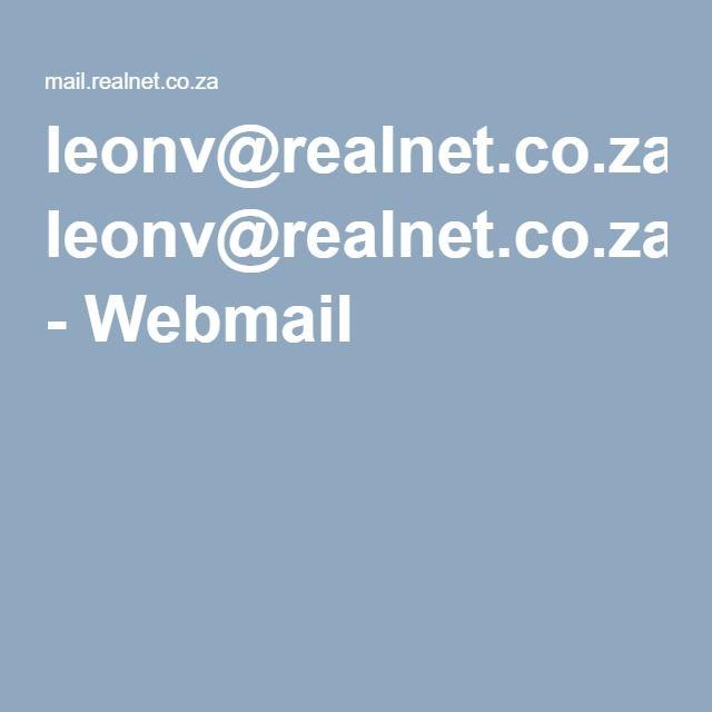 leonv@realnet.co.za - Webmail