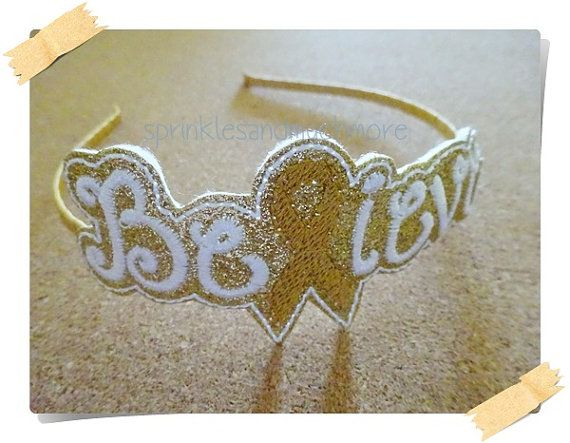 Believe Gold Childhood Cancer Awareness by SprinklesandMuchMore