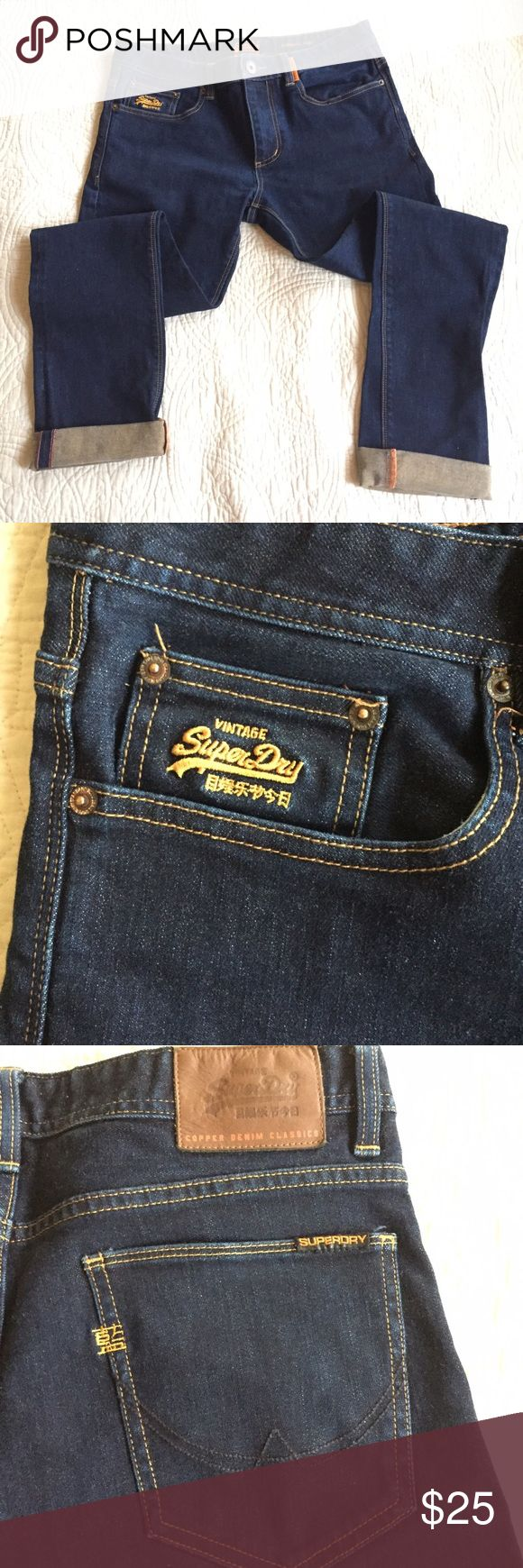 Superdry Corporal Slim Jeans Slim fit jeans. Worn and washed once....in mint condition. Superdry Jeans Slim