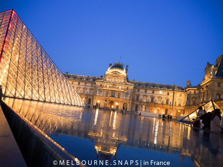 Le Louvre turns on its evening charm.