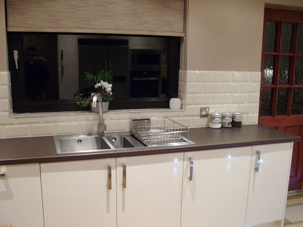 Euro Gloss Kitchen With Sinks and Taps