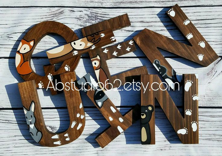 1000 ideas about painted wood letters on pinterest for Standing wood letters to paint