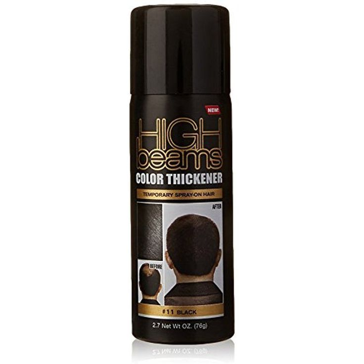 Hair Color Thickener Temporary Spray on Hair Quick Coverage Bald Black 2.7 Ounce #HighBeams