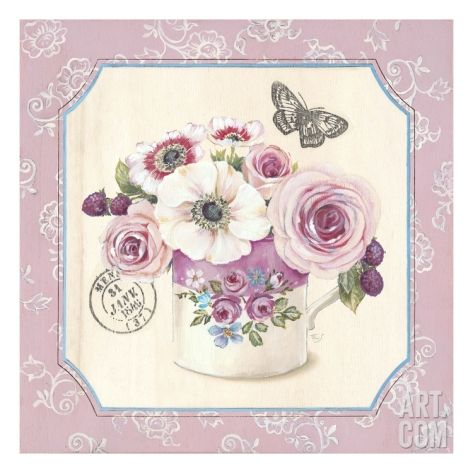 Art for the Nursery. Teatime Anemones Giclee Print by Stefania Ferri at Art.com