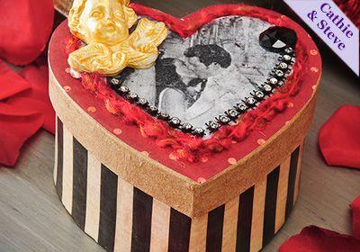 #Valentine Gift Box #ModPodge