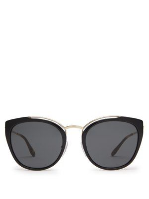 b75bac594 Cat-eye acetate and metal sunglasses   Prada Eyewear   MATCHESFASHION.COM UK