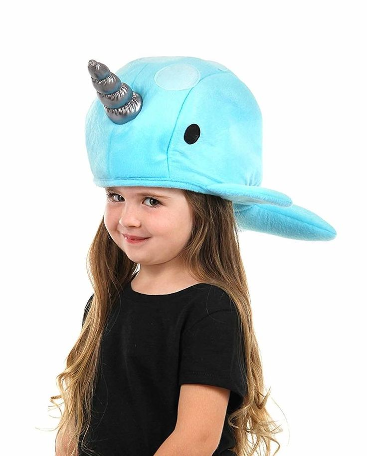 Blue Narwhal Hat. Join the pod and swim the arctic with your whale friends with this Narwhal Hat. This fun accessory features an adjustable hat band to fit both adults and children. Theme - Animal. Hat Product Details. | eBay!