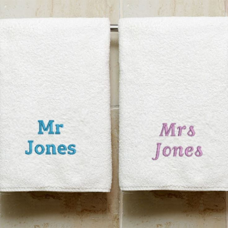 Personalised Embroidered Luxury His And Hers Bath Towels In 2020