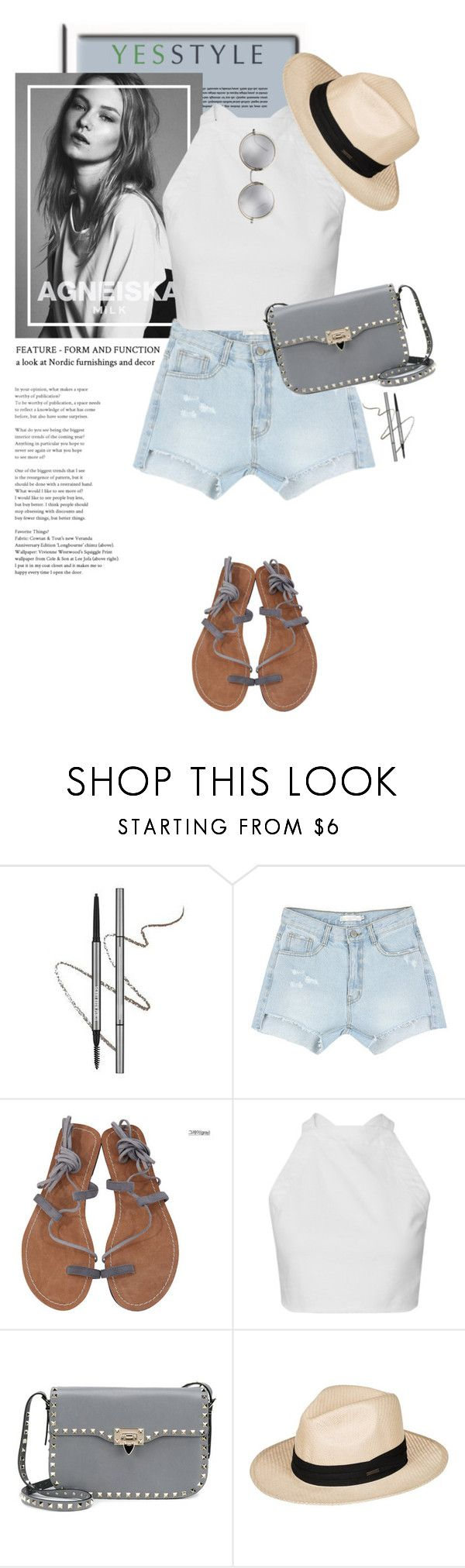 """YESSTYLE.com"" by monmondefou ❤ liked on Polyvore featuring Chlo.D.Manon, Valentino, Roxy, Linda Farrow, Summer and yesstyle"