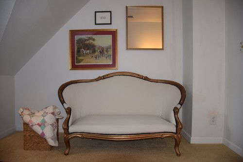WOW! Step-by-step instructions on how to reupholster an old settee, TONS of pictures too!