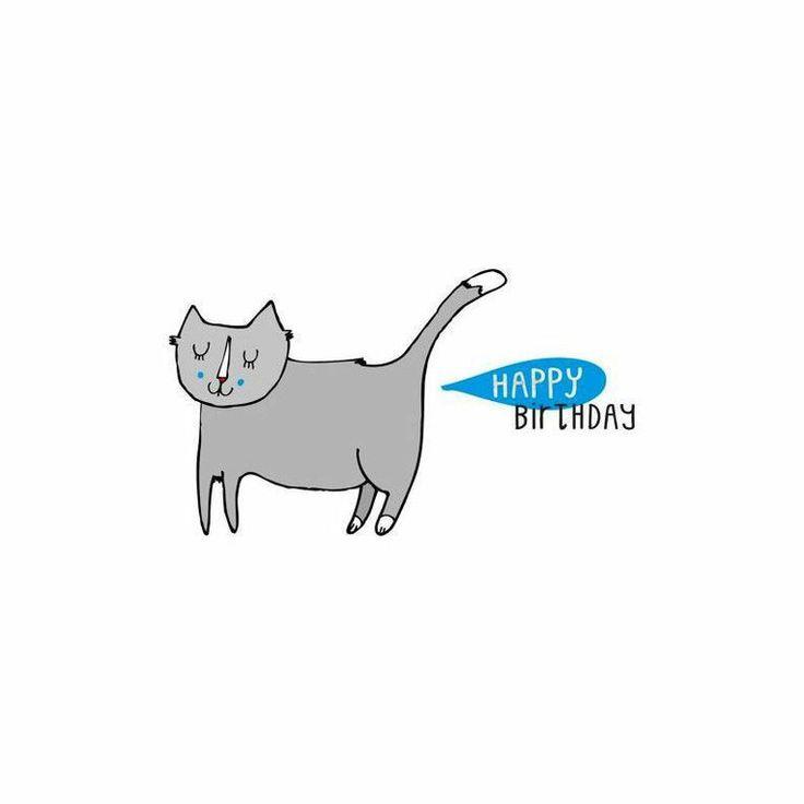 Love Cats Happy Birthday Cat Card
