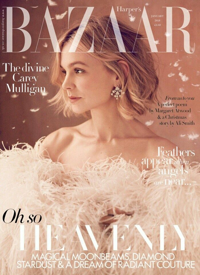 Carey Mulligan  для  Harper's Bazaar UK January 2018 #careymulligan #fashion #moda #UK #christmas #IZ