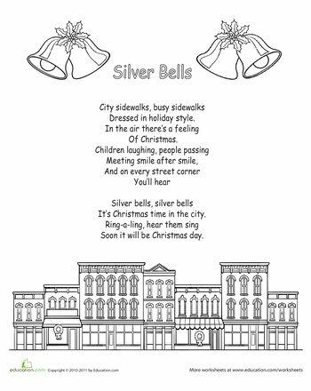 Color the Carol: Silver Bells   Christmas carols lyrics, Christmas lyrics, Holiday songs