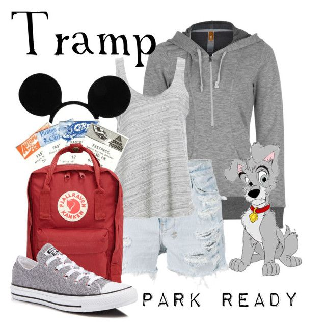 """Tramp: Park Ready"" by laniocracy ❤ liked on Polyvore featuring Lucy, Ksubi, Disney, Project Social T, Fjällräven, Converse and disneyland"