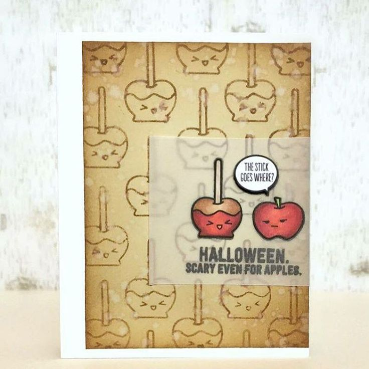 Halloween Card Caramel Apples created by designer Samantha Mann using the Sweet Stamp Shop Apples stamp set #sssapples