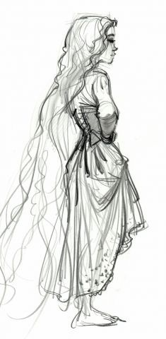 Rapunzel concept art glen keane. I wouid love this for a little girls bedroom