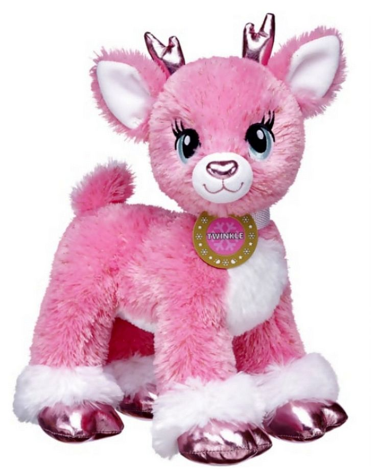 Build a Bear Twinkle Reindeer Pink Deer Stuffed Plush Toy Animal New with Tags In Stock Now at https://www.bonanza.com/booths/TweetToyShop