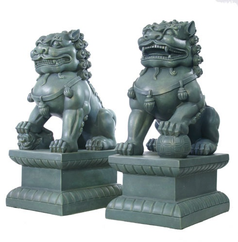 Chinese Foo dog statues