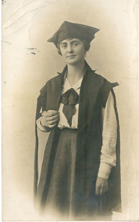 Photograph of Marjorie Abbatt nee Nora Marjorie Cobb, graduating from Oxford University, 1921