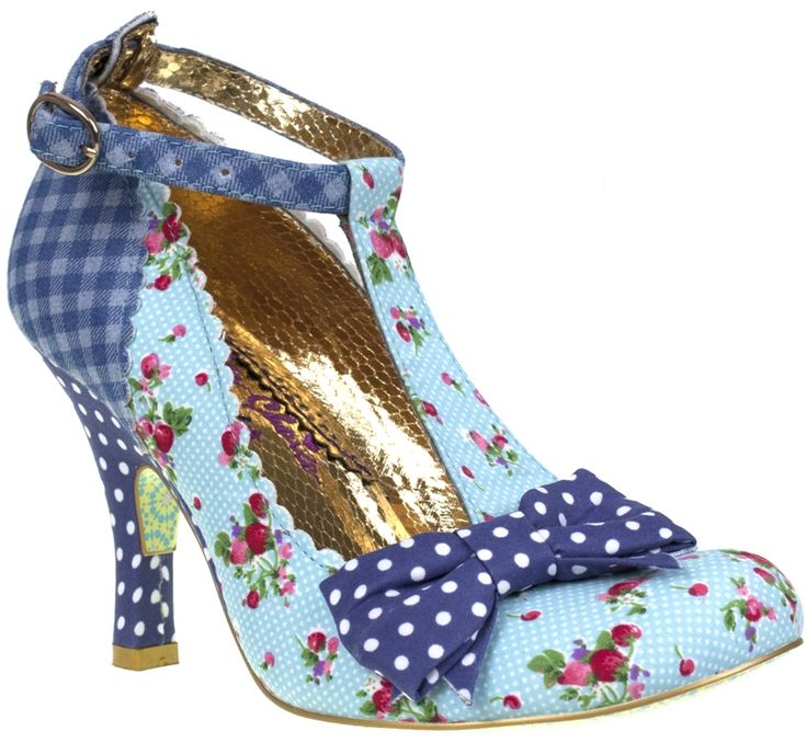 Irregular Choice Bloxy Blue Red Floral Womens