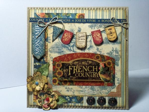 French Country Graphic 45 Layouts | Graphic 45 - French Country Collection - 8 x 8 Paper Pad