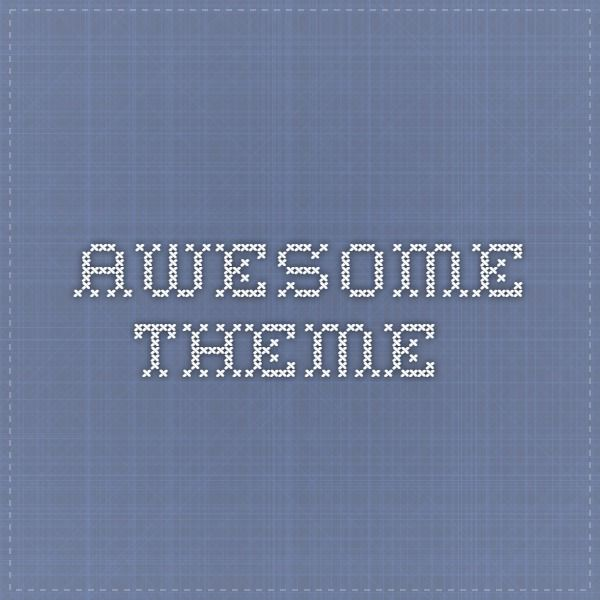 Awesome theme