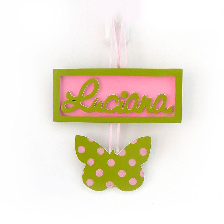 Letrero Mariposa Personalizado Luciana