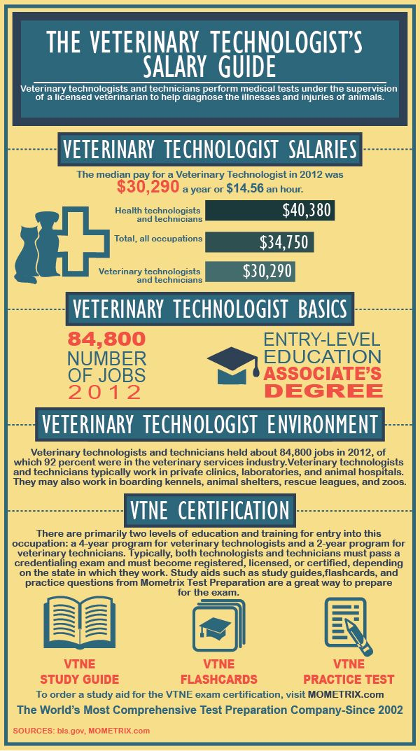 veterinary technician's salary guide | careers | pinterest ...
