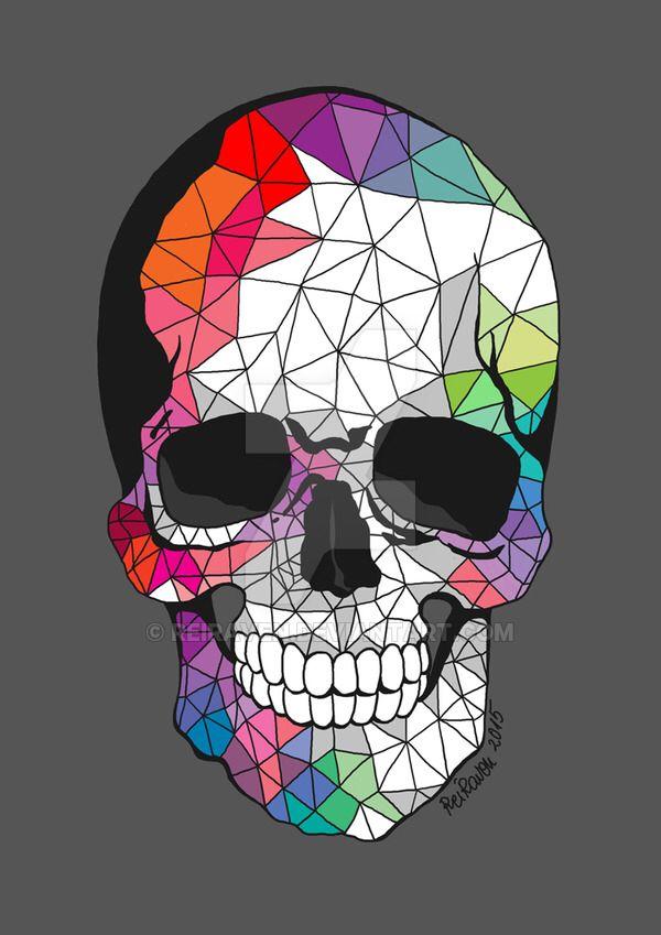 geometric skull by ReiRaven on @DeviantArt