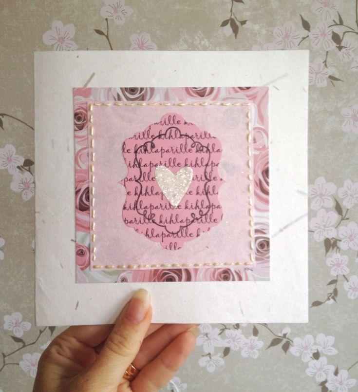 Käsintehty kortti kihlaparille / DIY card for engagement