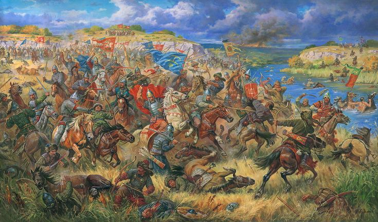 The Battle of Blue Waters was a battle fought at some time in autumn 1362 or 1363 on the shores of the Synjucha River, left tributary of the Southern Bug, between the armies of the Grand Duchy of Lithuania and the Golden Horde. The Lithuanians won a decisive victory and finalized their conquest of the Principality of Kiev.