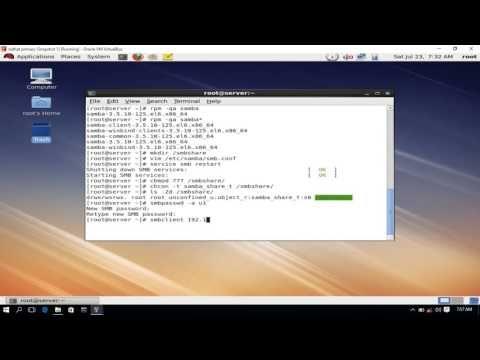 Onusoron: SAMBA Server Configuration