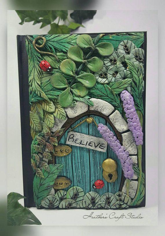 Secret Garden Fairy Door Journal / Notebook by Heather's Craft Studio on Etsy