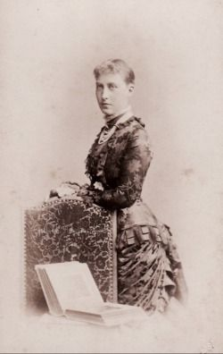 Charlotte, Duchess of Saxe Meiningen, neè Princess of Prussia. 1880s